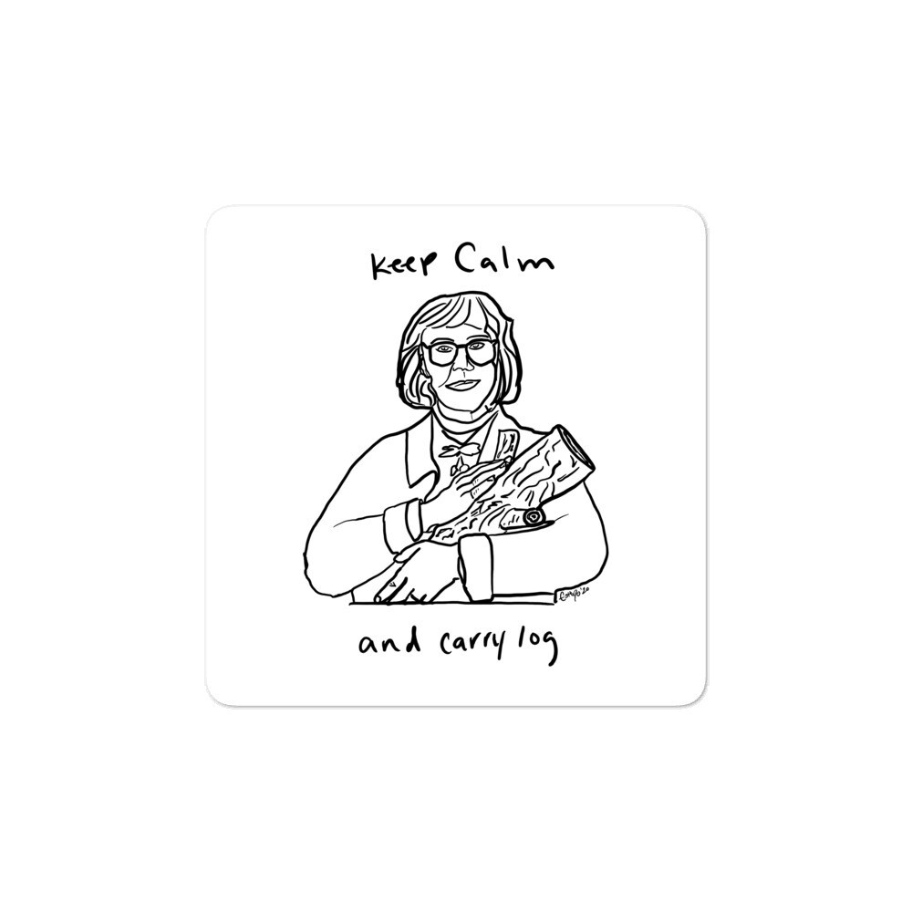 Keep Calm and Carry Log Bubble-free sticker
