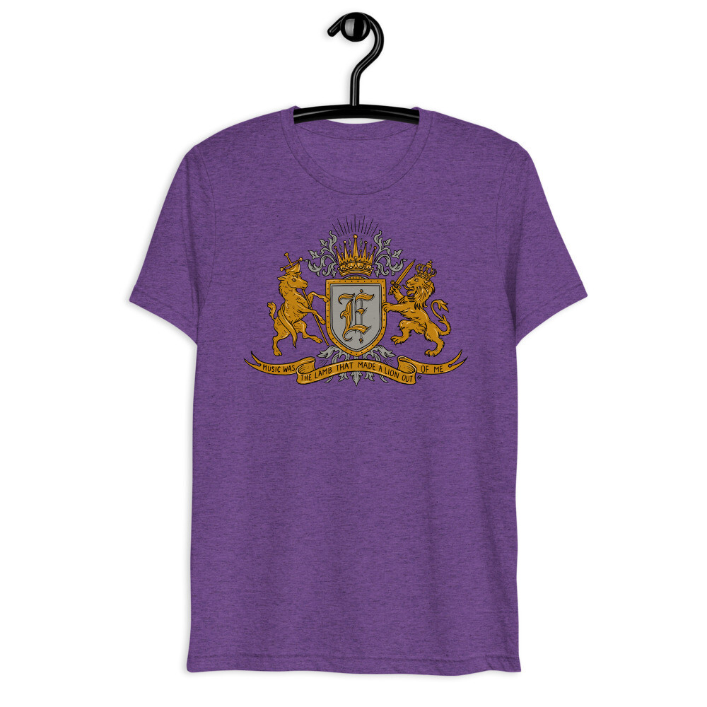 """Tri Blend """"Music Was The Lamb That Made A Lion Out Of ME"""" Unisex t shirt"""