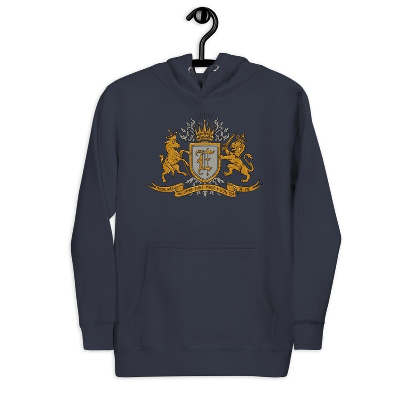 """""""Music Was The Lamb That Made A Lion Out Of Me"""" Unisex Hoodie"""