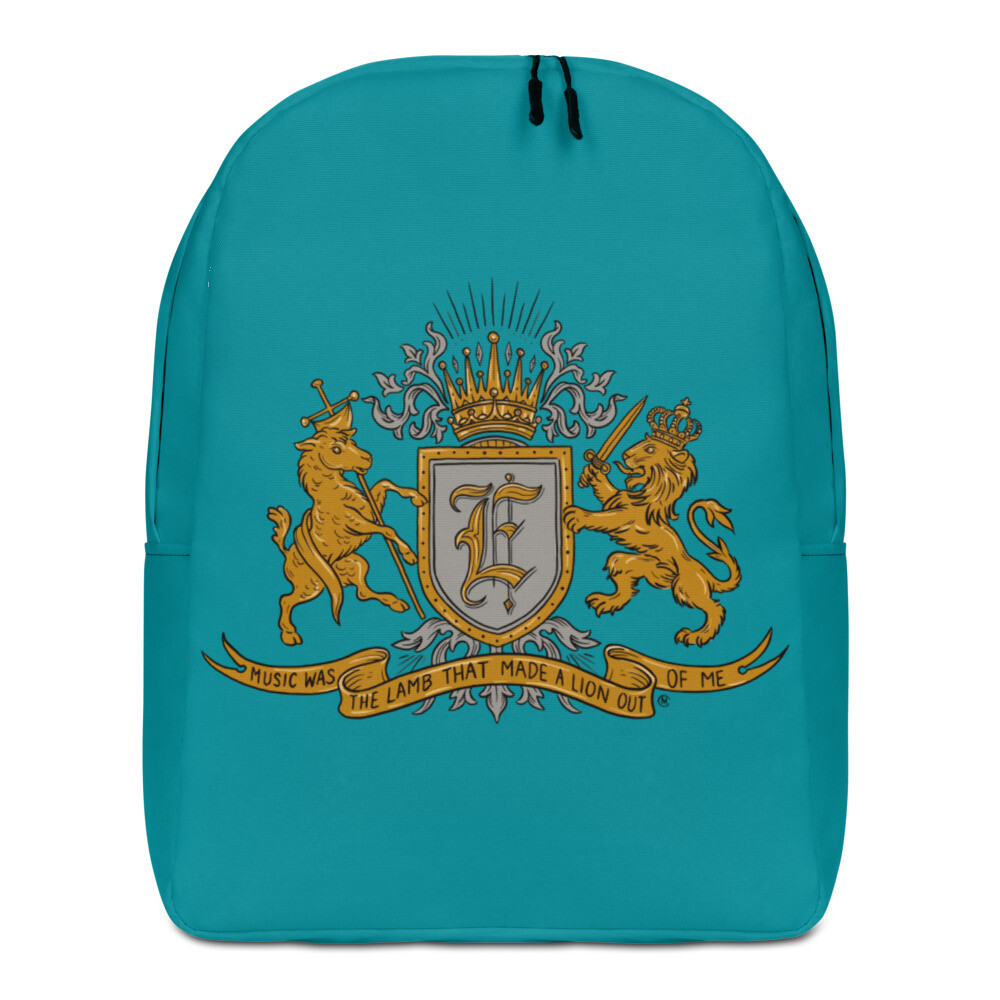 Swallow Me Coat of Arms Minimalist Backpack Teal