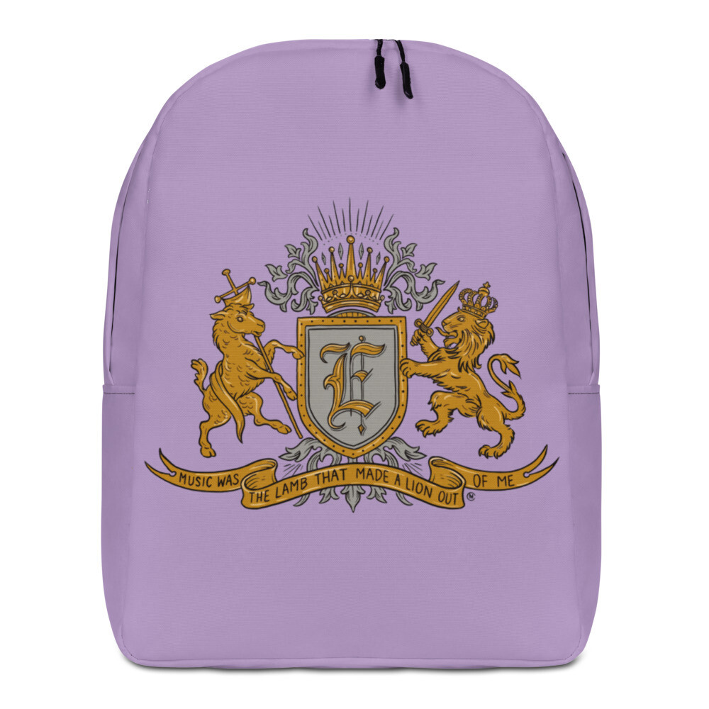 Swallow Me Coat of Arms Minimalist Backpack Purple