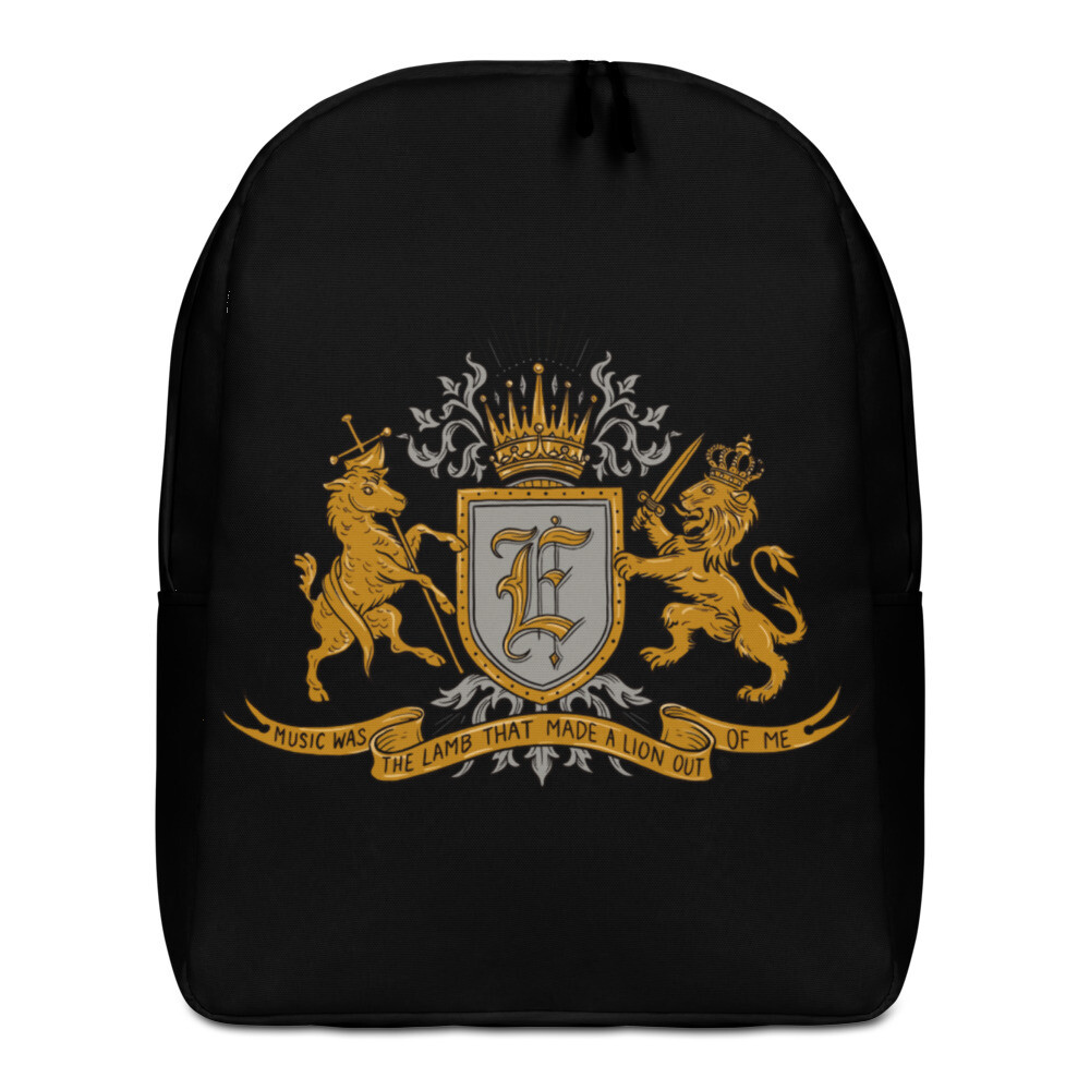 Swallow Me Coat of Arms Minimalist Backpack Black