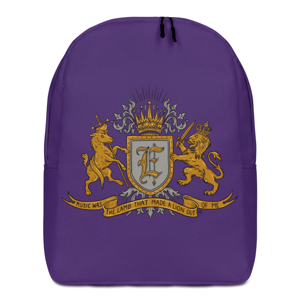 Swallow Me Coat of Arms Minimalist Backpack Royal Purple