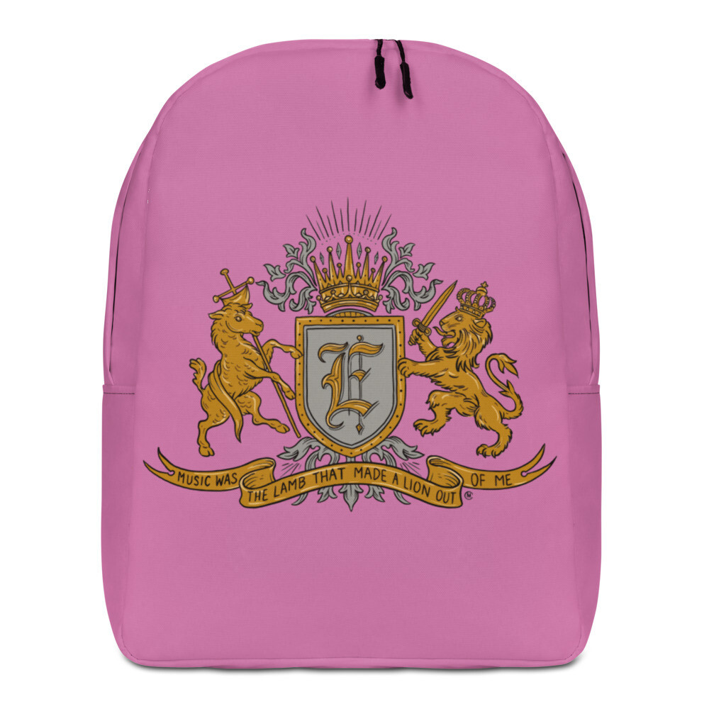 Swallow Me Coat of Arms Minimalist Backpack Bubblegum