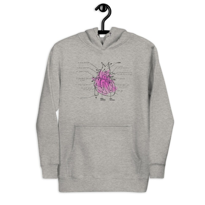 Everything is Expensive Heart Track Listing Hoodie