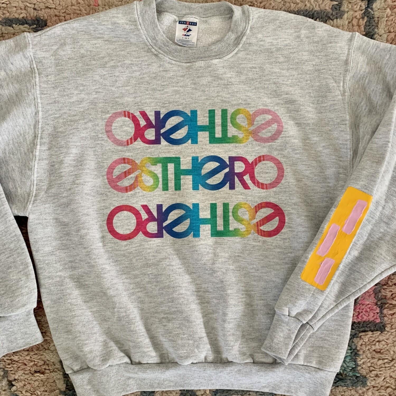 Custom Rainbow Esthero Vintage Sweatshirt
