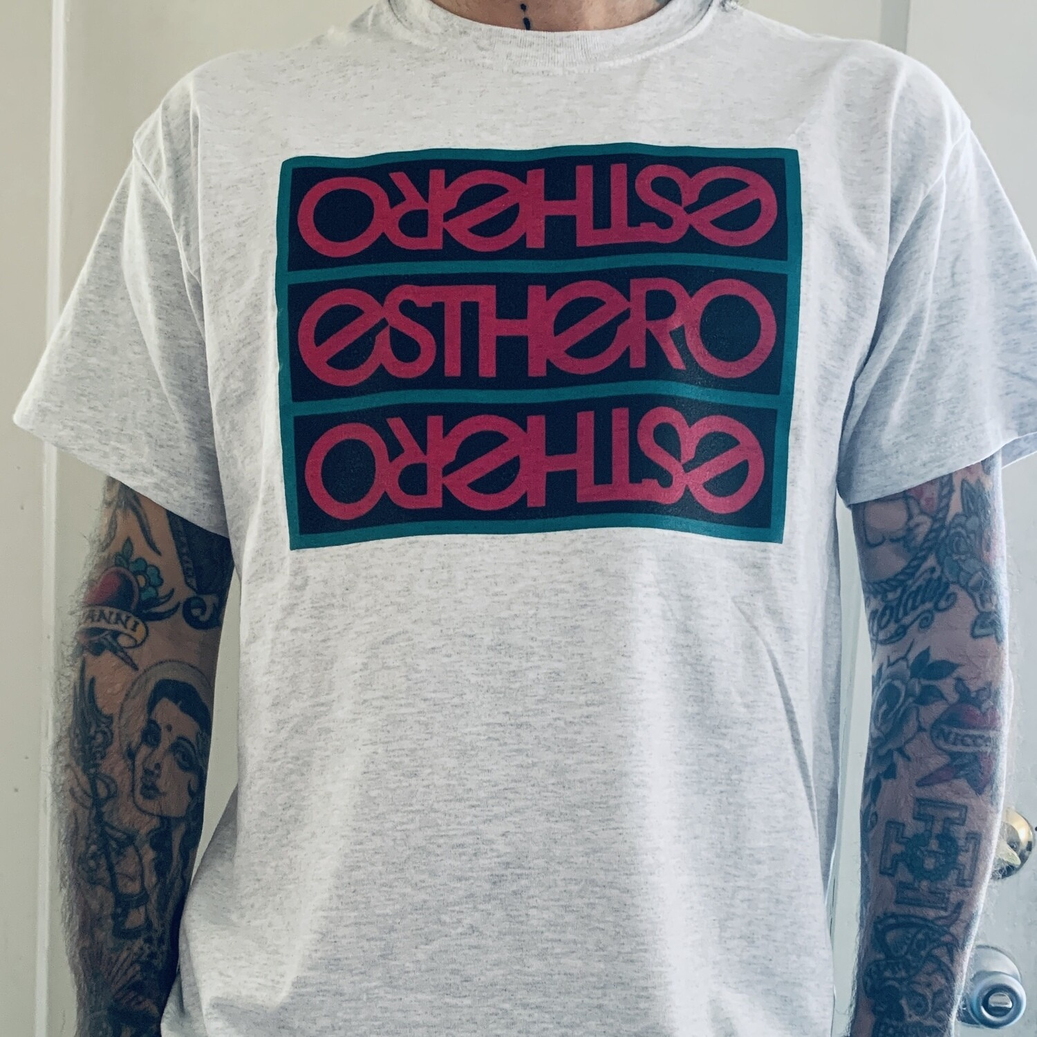 Custom Green/Pink/Black Esthero Trio Tee
