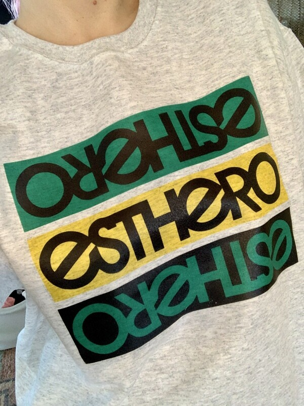 Custom Hand Made Esthero Trio Jamaican Flag colours Iron On Sweatshirt (size L)