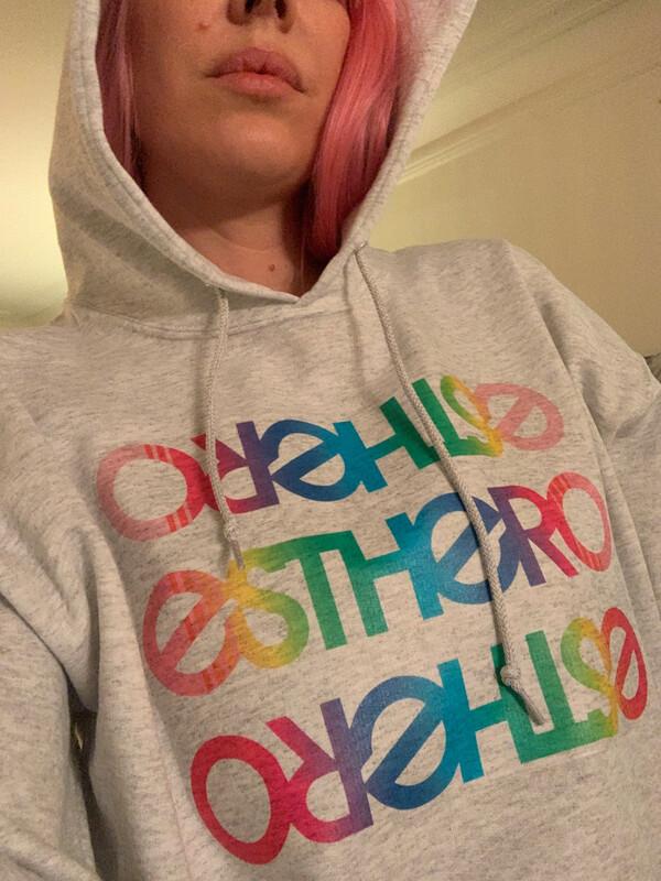 Custom Hand Made Esthero Rainbow Hoodie  (size L)