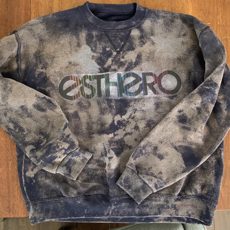 Custom Vintage Bleached Esthero Sweatshirt XS