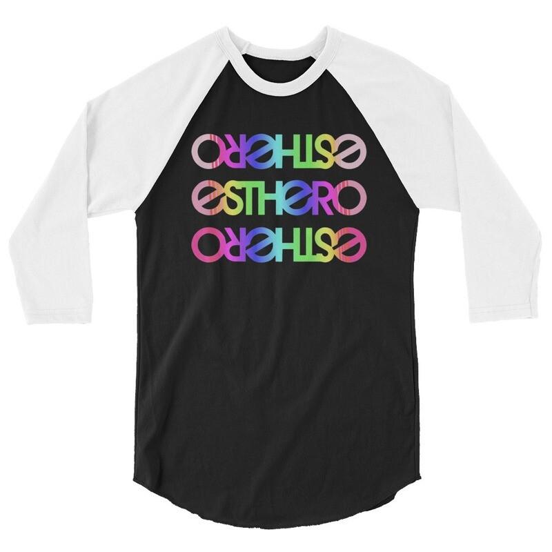 Rainbow Esthero Unisex 3/4 sleeve raglan shirt