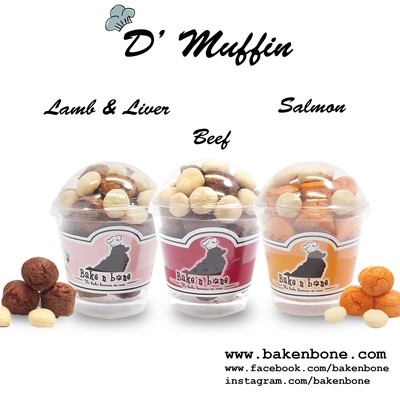 D' muffin - Lamb & Liver/Salmon/Beef