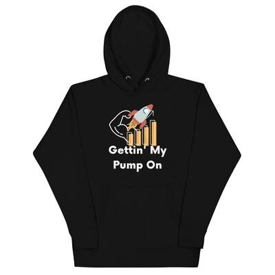 Gettin' My Pump On Hoodie (Dark)