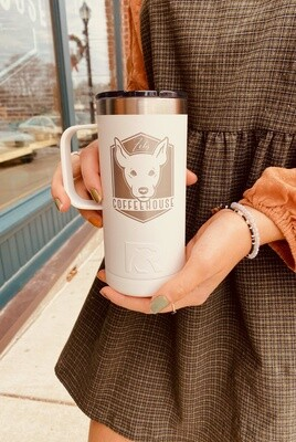 White Stainless Travel Mug