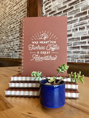 Sunrise Coffee Journal Terracotta
