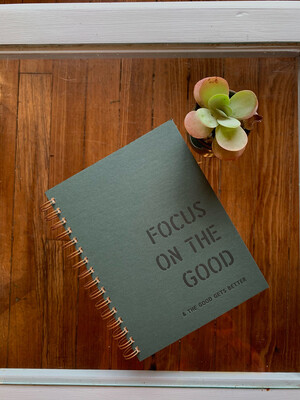 Focus On The Good Journal Forest Green