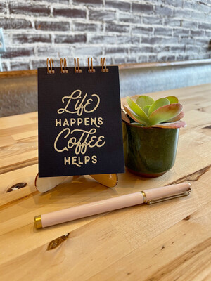 Life Coffee Mini Jotter Deep Blue