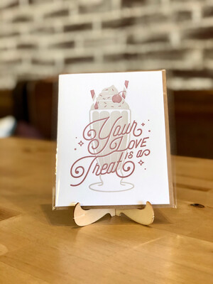 Love Is A Treat Greeting Card