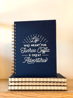 Sunrise Coffee Journal Deep Blue