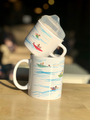 Two of a Kind Mug & Sippy Cup Set - Water Ski
