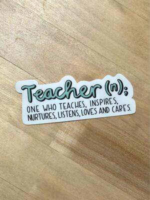 Teacher Definition Sticker (Big Moods)
