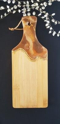 Serving board/platter brown/gold