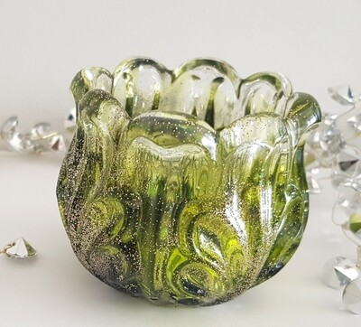 """Lime green/black - """"In memory of"""" candle holder"""