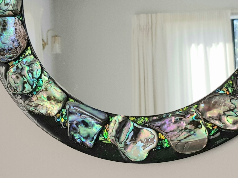 Paua shell hanging mirror