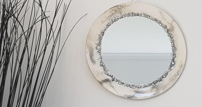 Off-white marble looking mirror