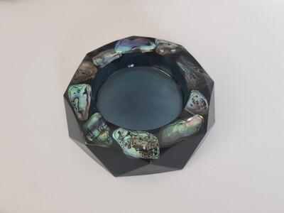 Ashtray paua in blackish blue