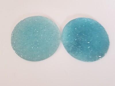 Druzy crystal coasters x 2