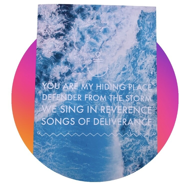 Lyric Greetings card - Songs of Deliverance - Blank card