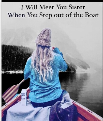 Lyric Greetings Card - Step out of the Boat - Blank card