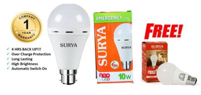 SURYA LED 10W Emergency Bulb Pin Type
