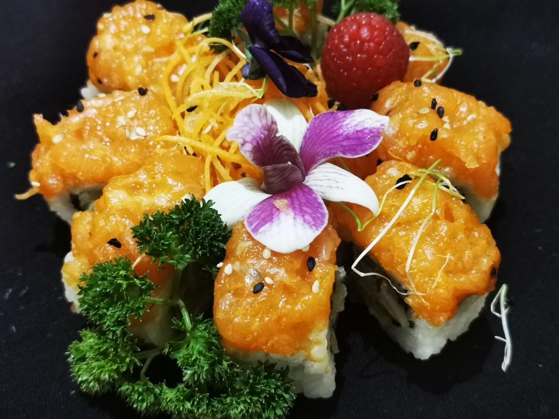 tartare saumon roll