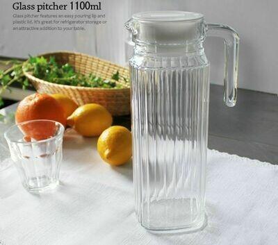 Luminarc Glass Fridge Jug with Lid crystal 1.2 Litres