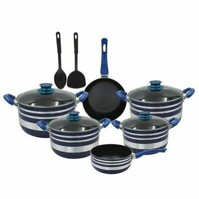 Yi Tong 12 Pieces Non Stick Cooking Pan/ Pots/ Sufuria Set