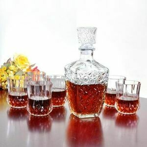 Generic 2 Size Gl Whiskey Liquor /Wine Drinks Decanter Crystal Bottle - (2 Size For Choice)