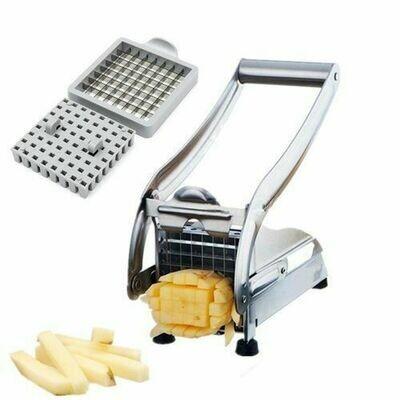 Generic 2 Blades Potato Chipper French Fries Slicer Chip Cutter Chopper Maker Slicer