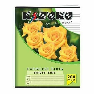 15 Exercise Books (12 SINGLE LINE +  3 SQUARE LINE )  (cover May Vary)