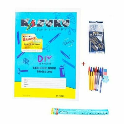 12 Exercise Books (10 Ruled & 2 Squared )  Kasuku   ( Cover Design May Vary )