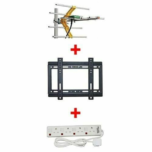 "Generic Aerial + 14""-42"" TV wall bracket + 4 way extension socket"