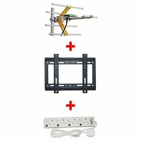 "Generic Aerial + 14""-42"" TV wall bracket + 4 way extension socket"