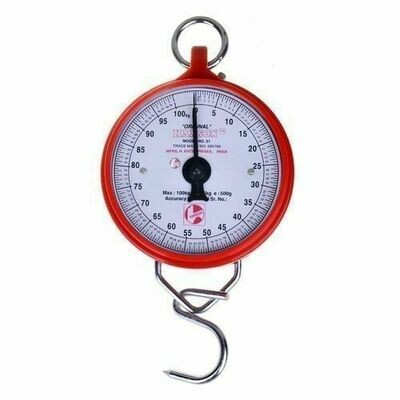 Round Spring Original Weighing Scale Heavy Duty Portable, Hook Type 100KG