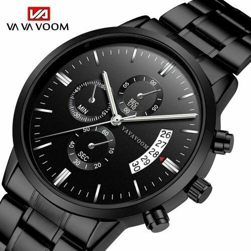 Men's Quartz Waterproof Stainless Steel Watch