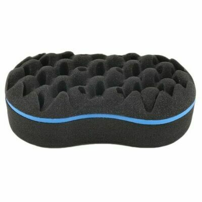 Double Barber Hair Brush Oval Sponge Locking Twist Coil Afro Curl Wave