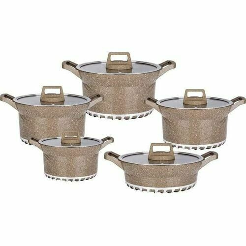 Bosch 10PCS BOSCH GERMANY BRAND GRANITE COOKING POTS