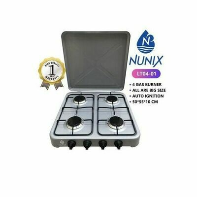 4 Gas Burner Table Top Cooker Silver.