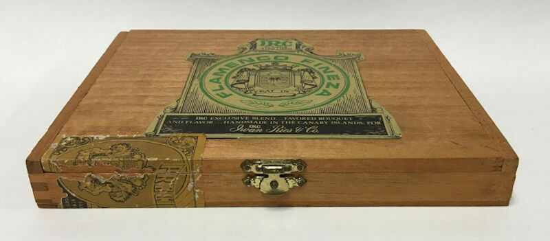 Iwan Ries & Co. (IRC) Flamenco Fineza Cigar Box – Canary Islands c1960s