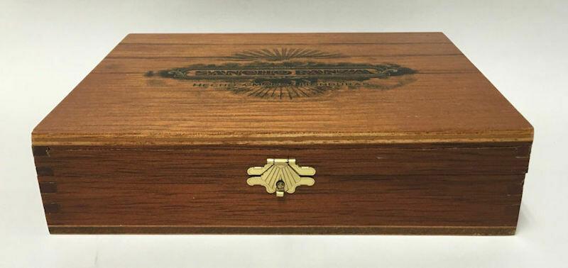 Sancho Panza Hecho A Mano Honduras Valiente Vintage Wooden Cigar Box